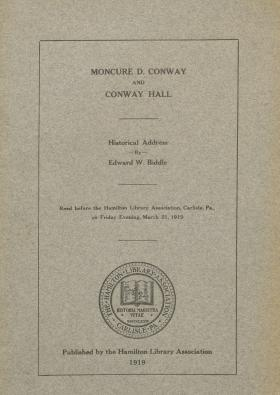 """""""Moncure D. Conway and Conway Hall,"""" by Edward W. Biddle"""