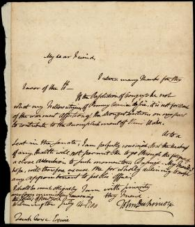 Letter from John Dickinson to Tench Coxe