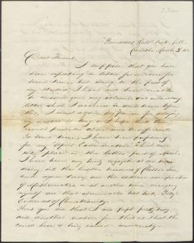 Letter from William Snively to J. S. Gordon