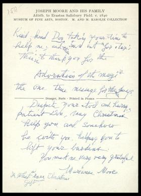 "Postcard from Marianne Moore to ""Don"""