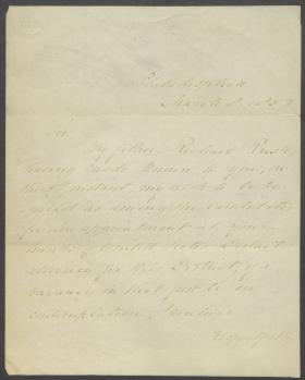 Letter from Murray Rush to Franklin Pierce