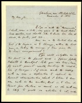 Letter from Richard Rush to A. Dickens