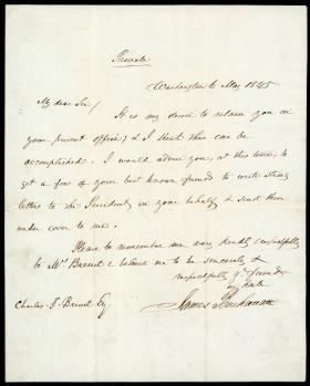 Letter from James Buchanan to Charles Breuil