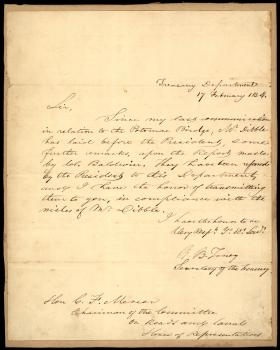Letter from Roger B. Taney to Charles Mercer