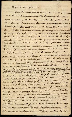 Legal Document, Farmers Bank v. John Darnall