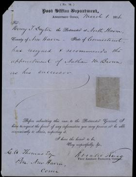 Letter from Horatio Collins King to L. A. Thomas
