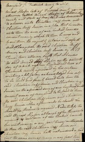 Legal Document, Christian Neff v. Conrad Shafer