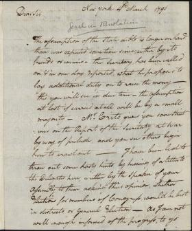 Letter from William Irvine to John Nicholson