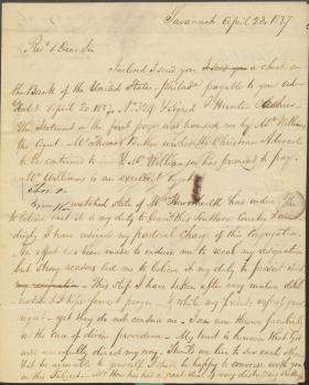 Letter from Samuel How to Ashbel Green