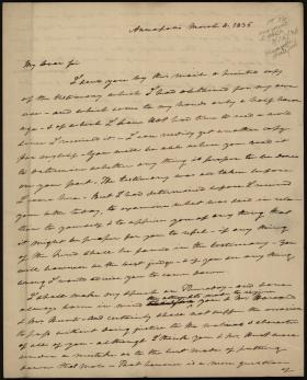 Letter from Roger B. Taney to William Read