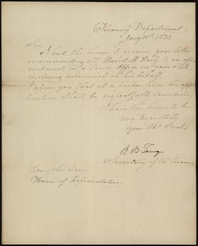 Letter from Roger B. Taney to John Carr