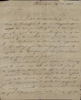 Letter from Joseph Priestley to Jean-Frédéric Perregaux