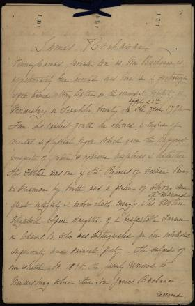 Biographical Sketch of President James Buchanan by Lily Macalester