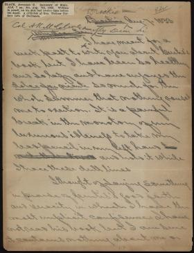Letter from Jeremiah Black to Alexander McClure