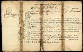 Deed for Land Sold by Pennsylvania to John Culbertson