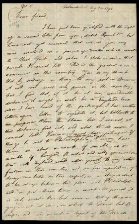 Letter from Joseph Priestley to Theophilus Lindsey