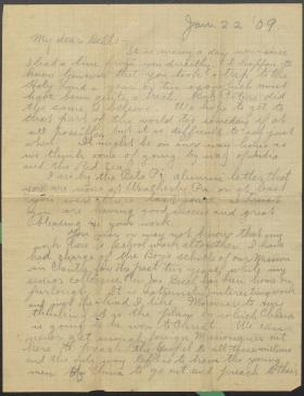 Letter from John Yost to Frank Bell