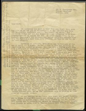 Letter from Whitfield Bell Jr. to Brooks Kleber
