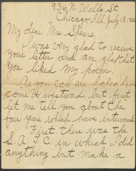Letter from Edwin Willoughby to Mrs. Spears