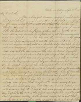 Letter from Charles Stinson to His Father