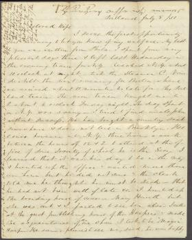 Letters from Charles Collins to Harriet Collins (Jul. 1851)