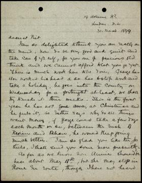 """Letter from Laura Windust to """"Piet"""""""