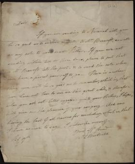 Letter from Anna Barbauld to Ritchard Taylor