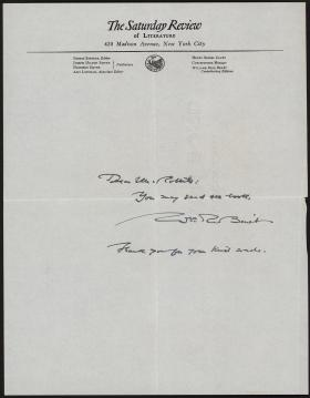 Letter from William Benet to Mr. Roberts