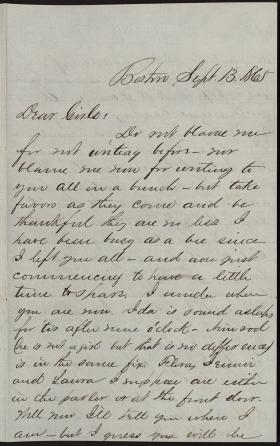 Letter from Ned Hastings to His Sisters