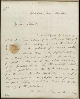 Letter from Richard Rush to Thomas Aspinwall