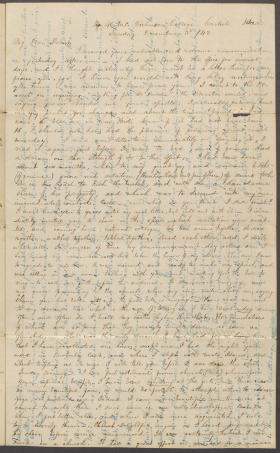Letter from Thomas McFadden to Robert Black