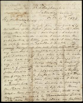 Letter from William Wilkins to Matilda Wilkins