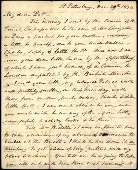 "Letter from William Wilkins to ""Pet"" Wilkins"