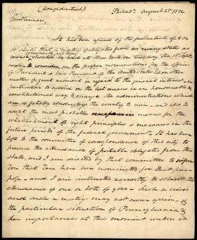 Letter from John Wallace to Robert Coleman and James Hopkins