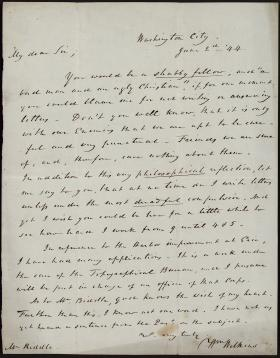 Letter from William Wilkins to William Biddle
