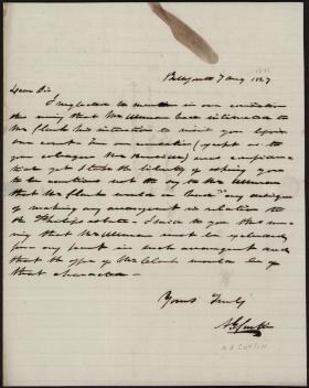 Letter from Andrew Curtin to L. M. Smith