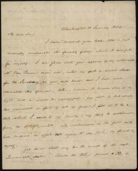 Letter from James Buchanan to Francis Pickens