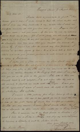 Letter from James Buchanan to Arnold Plumer