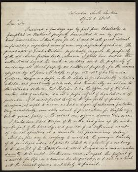 Letter from Thomas Cooper to Nassau William Senior