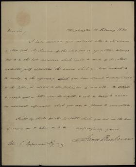 Letter from James Buchanan to Peter Du Ponceau