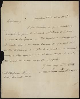Letter from James Buchanan to Nathaniel Chapman