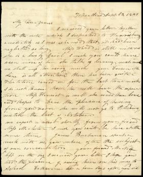 Letter from Hetty Parker to James Henry