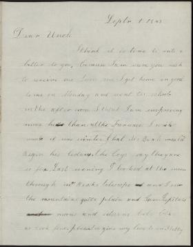 Letter from James Henry to James Buchanan