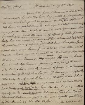 Letter from Benjamin Rush to John Rush