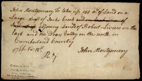 Land Agreement Signed by John Montgomery