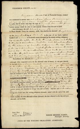 Legal Document, Abraham Jones v. Benjamin Howard