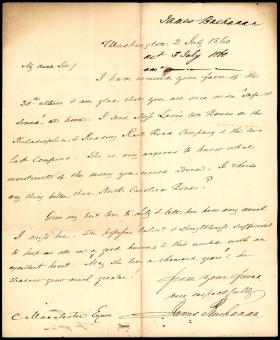 Letter from James Buchanan to Charles Macalester