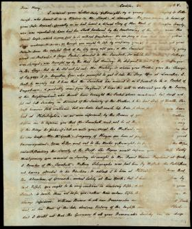 Letter from Charles Nisbet to Mary Nisbet