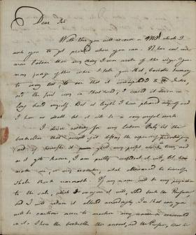 Letter from Joseph Priestley to John Vaughan