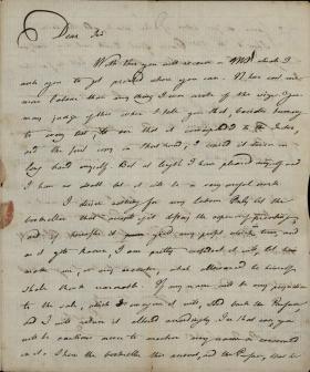 Letter from Joseph Priestley to John Vaughan